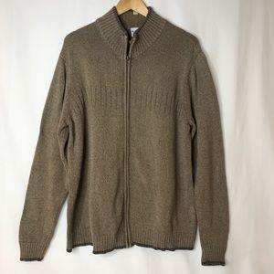 Columbia Men's Mock Neck Full Zip Cardigan Cotton